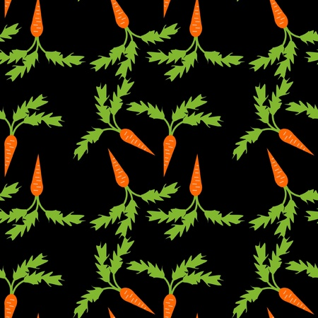 seamless background with carrots Vector