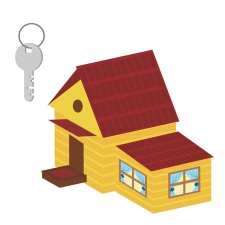 nice house: nice house and key