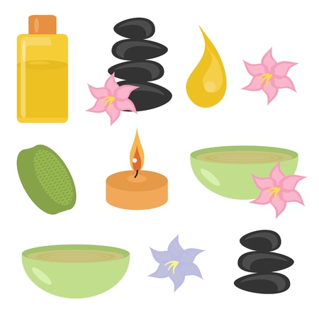set with spa objects Vector
