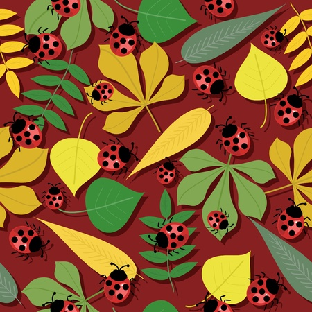 lea: seamless autumn background