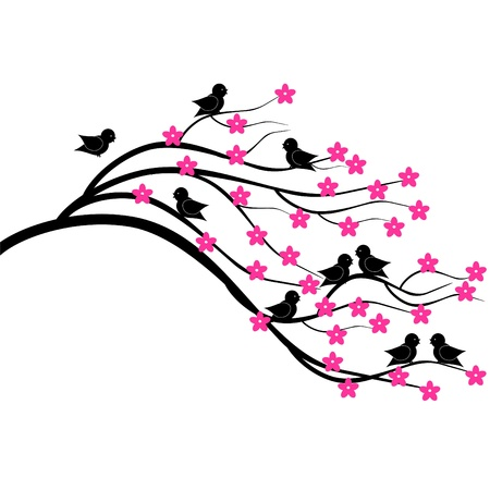 brunch: tree brunch with birds