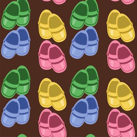 nahtlose Hintergrund mit Kindern Schuhe Vektorgrafik