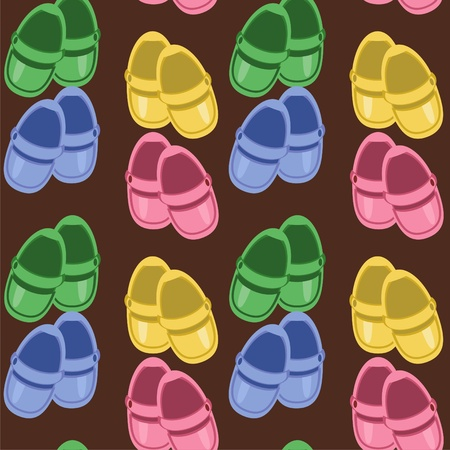 seamless background with children shoes Vector