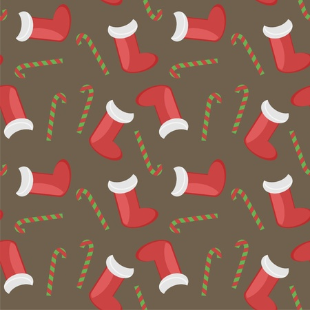 New Year and Christmas background seamless Vector