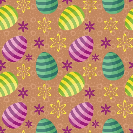 cristian: Easter background with eggs Illustration