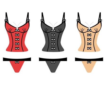 sexy woman lingerie: lingerie on white background Illustration