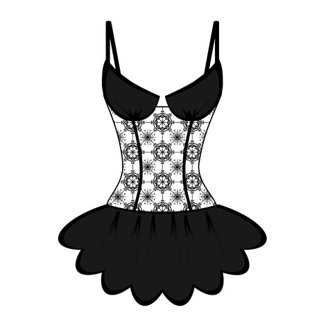lingerie on white background Vector