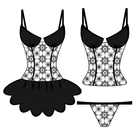 white underwear: pizzo lingerie su sfondo bianco