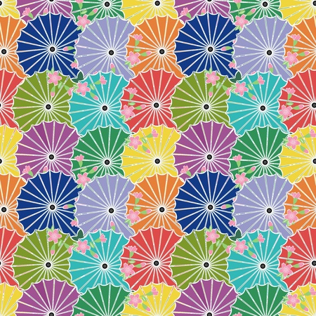 background with japanese ubmrellas