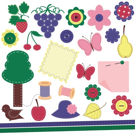 set with scrap booking objects Stock Vector - 13367625