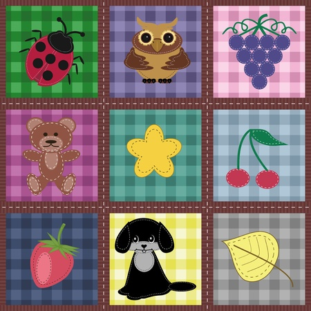 seamless background with patchwork Vector