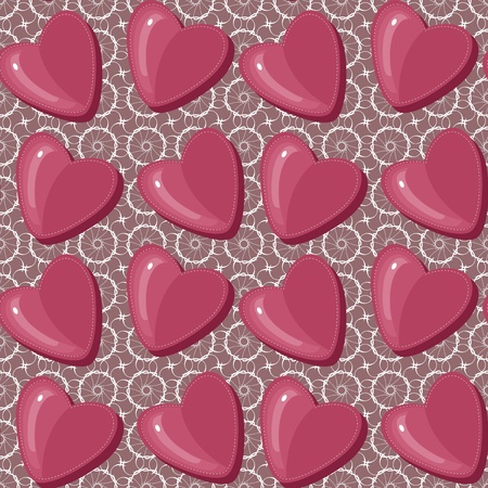 seamless pattern with hearts Stock Vector - 13367689
