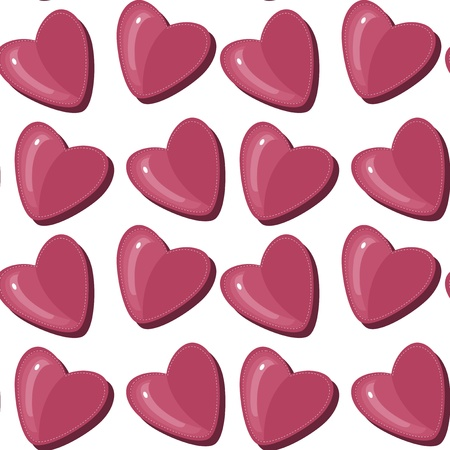 seamless pattern with hearts Stock Vector - 13367672