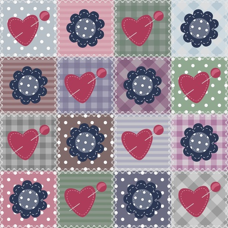 patchwork background with different items Vector