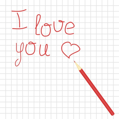 infatuation: declaration of love and pencil