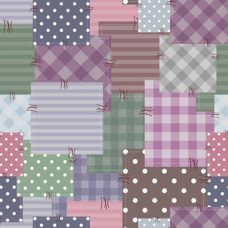 square detail: patchwork background with different patterns