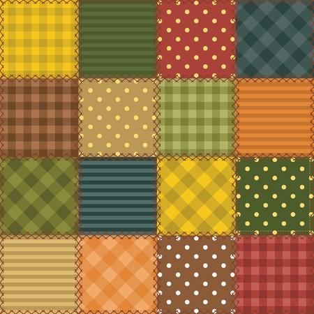 さまざまなパターンとパッチワークの背景