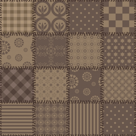 quilting: patchwork background with different patterns