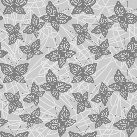 seamless background with openwork butterflies Vector
