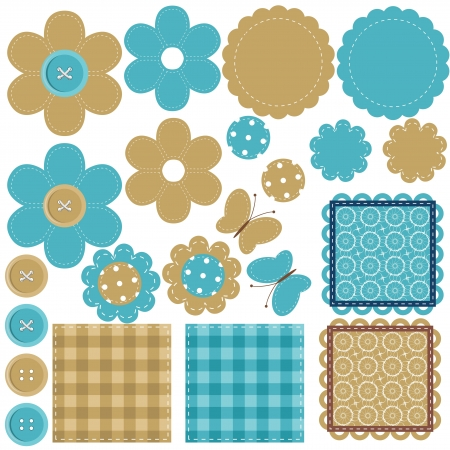 set with scrapbook objects