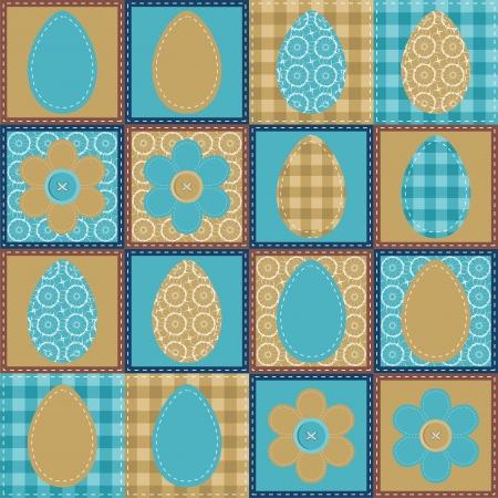 Easter wallpaper patchwork scrapbook Vector
