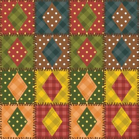 handiwork: mosaico de fondo con diferentes patrones Vectores