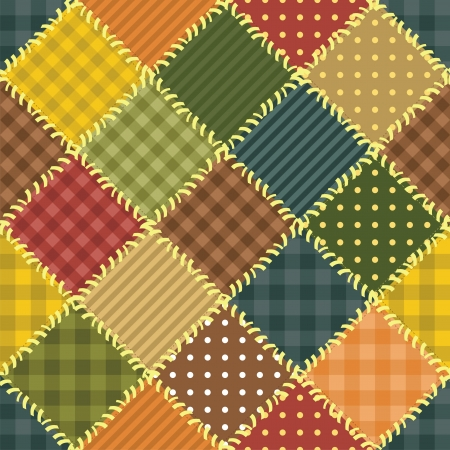 patchwork background with different patterns Stock Vector - 14446767