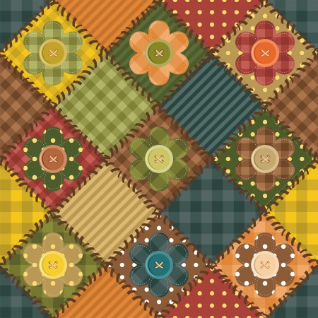 Gingham pattern: patchwork background with different patterns