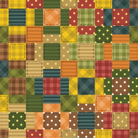 patchwork background with different patterns Stock Vector - 14584522