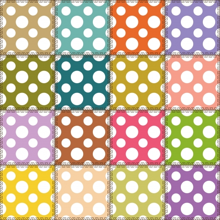 patchwork background with different patterns Stock Vector - 14584523