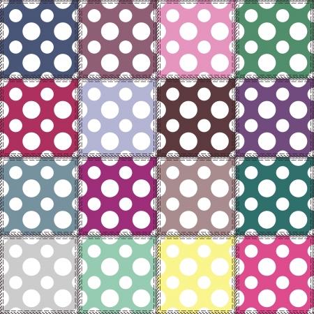fond patchwork avec des motifs différents Vecteurs