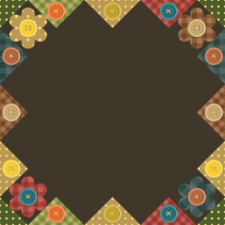 seamless patchwork background with flowers Vector