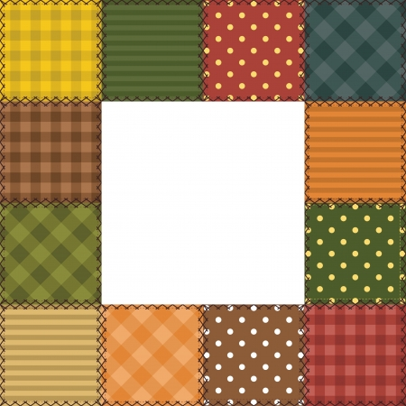 tracery: patchwork frame with different patterns