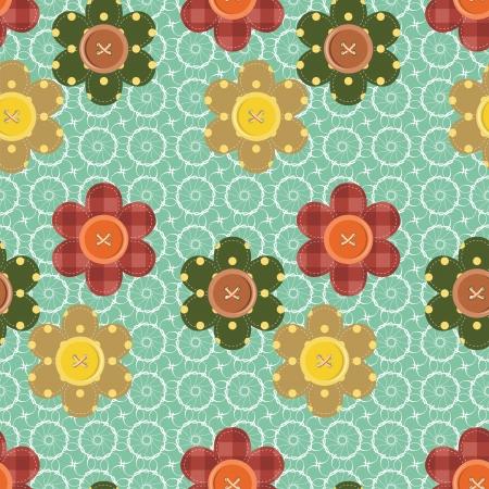 Кнопки: бесшовные узор с цветами записках