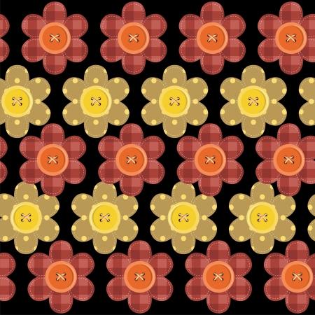 seamless fleurs scrapbook Vecteurs