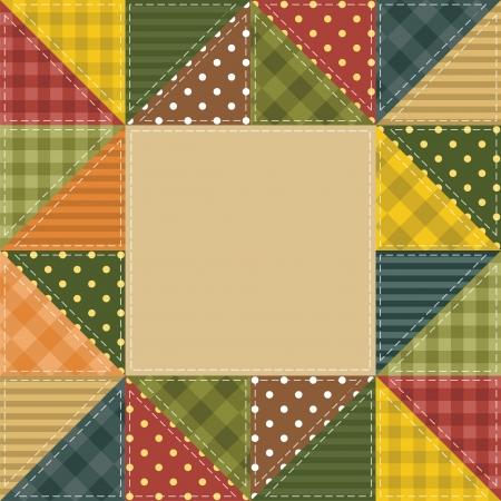 manta de retalhos: Quadro com elementos de retalhos Ilustra��o