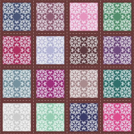 patchwork background with different patterns Stock Vector - 14802023