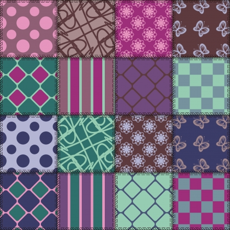 Patchwork Background With Different Patterns Royalty Free Cliparts Enchanting Different Patterns