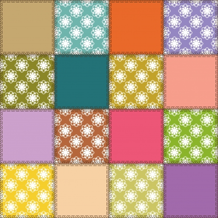 patchwork background with different patterns Stock Vector - 15058125