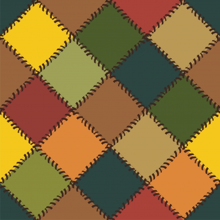 craft ornament: patchwork background with different patterns