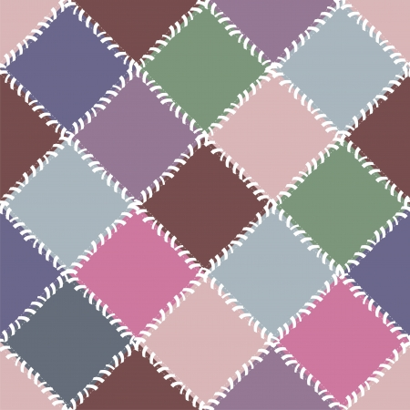 patchwork background with different patterns Vector