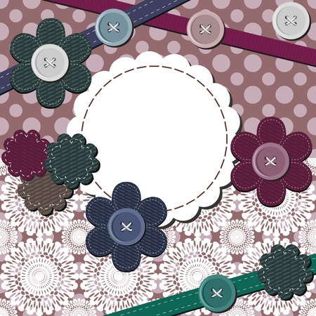 frame with different scrapbook objects Vector