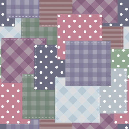 handiwork: patchwork background with different patterns