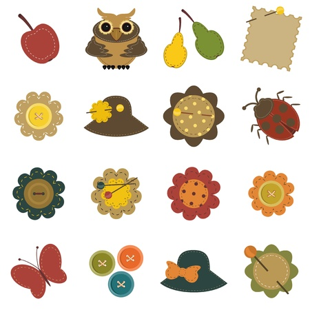set with scrapbook objects Vector
