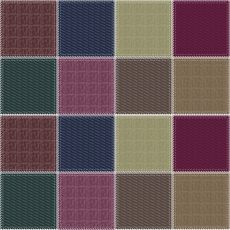 patchwork background with different textures Vector