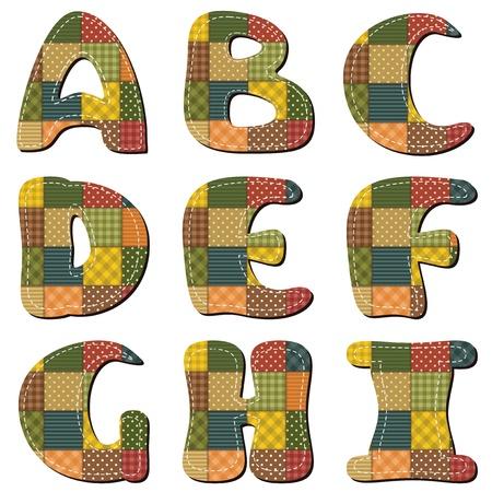 patchwork scrapbook alphabet part 1