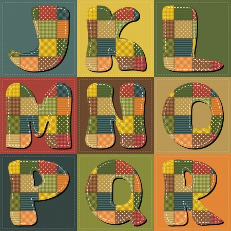 patchwork scrapbook alphabet part 2
