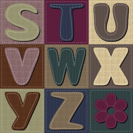 different colors letters scrapbook part 3 Vector