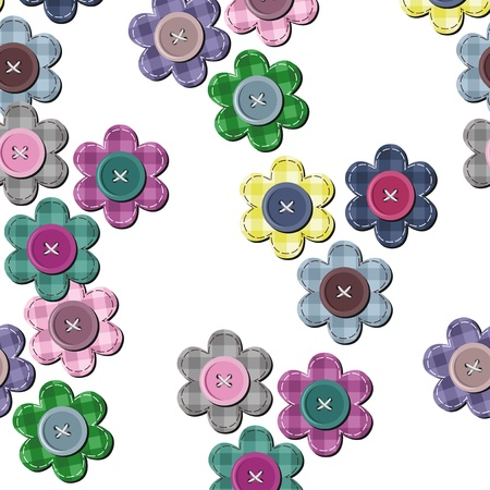 seamless background with scrapbook flowers Vector