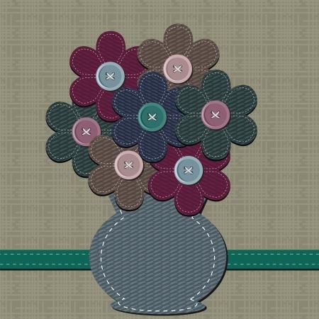 handiwork: scrapbook vase with flowers